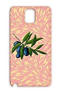 Olives Yellow For Sumsang Galaxy Note 3 Leaf Food Kitchen Art Design Mediterranean Painting Drawing Twig Vegan Case
