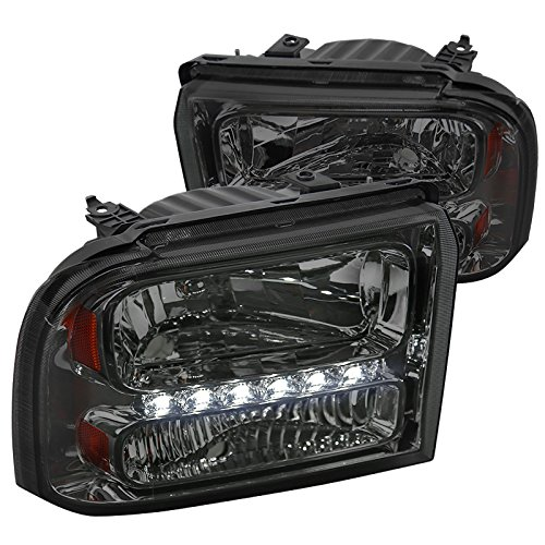 Spec-D Tuning 2LH-F25005G-RS Smoke Headlight Euro With Led