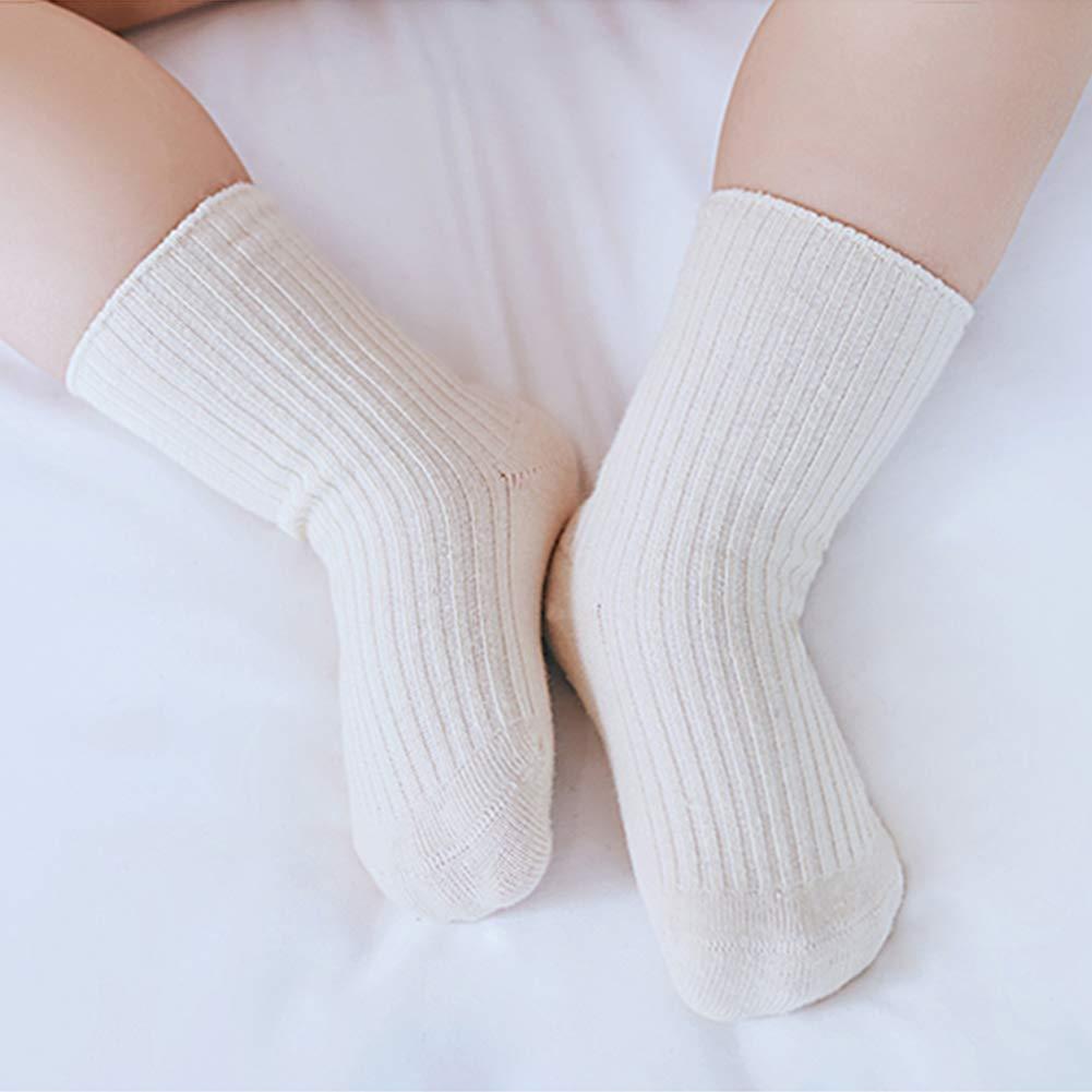 3 Pairs Unisex Baby Socks Anti Slip Short Dress Socks Children Cotton Crew Sock Breathable Socks for Outdoor Indoor S
