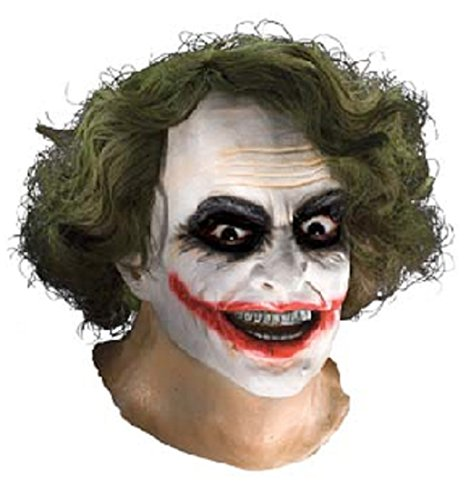 Latex Batman Halloween Mask (Batman The Dark Knight Adult Joker Latex Mask With Hair, Adult One)