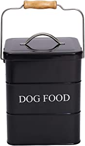 Geyecete Dog Treats tin and Dog Food Storage Tin with Lid & with Spoon for Dog Food Storage, Medium Pet Food Storage Can