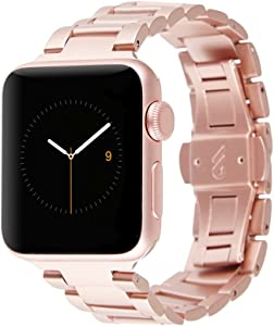 Case-Mate - Metal Linked Band - 38mm 40mm Stainless Steel Apple Watch Band - Apple Watch Series 1, 2, 3, 4, 5 - Rose Gold