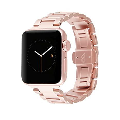 new concept 8946b d16ef Case-Mate - Metal Linked Band - 38mm 40mm Stainless Steel Apple Watch Band  - Series 4, Series 3, Series 2, Series 1 - Rose Gold