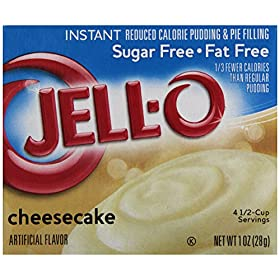 Jell-O Instant Sugar-Free Fat-Free Cheesecake Pudding & Pie Filling, 1 oz Box