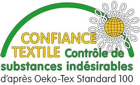 Epaisseur Totale de 7 cm RESTBULLE Surmatelas de Confort Moelleux 80 x 200 cm Enveloppe Amovible et Lavable Certifi/é Oeko-Tex Production Fran/çaise Qualit/é H/ôtellerie
