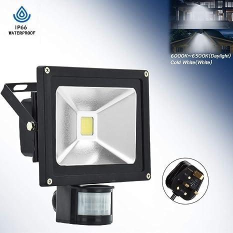 LOT 1-10x LED PIR Motion Sensor Garden Spotlight Security Outdoor Yard Light MX