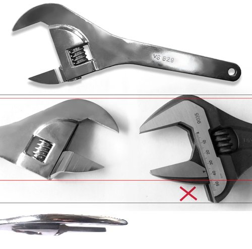 V8 Tools (V8T629) 2'' Super Thin Adjustable Wrench by V8 Tools