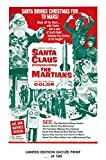 RARE POSTER christmas SANTA CLAUS CONQUERS THE MARTIANS 1964 movie giclee #'d/100!! 12x18