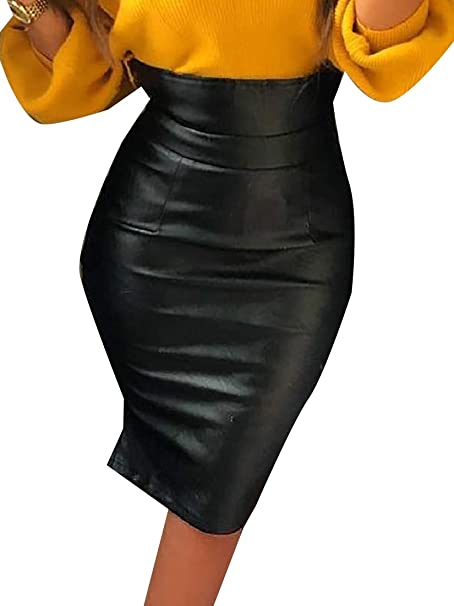 Andopa Highwaist atractivo Custom Ajuste Body lápiz falda de Midi ...