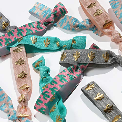 Bulk Hair Tie Party Favors (50 Hair Ties, Cactus)