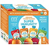 NurturMe Power Blends Organic Baby Food Pouch, Fruit + Veggie Variety Pack, 3.5 Ounce (Pack of 8)