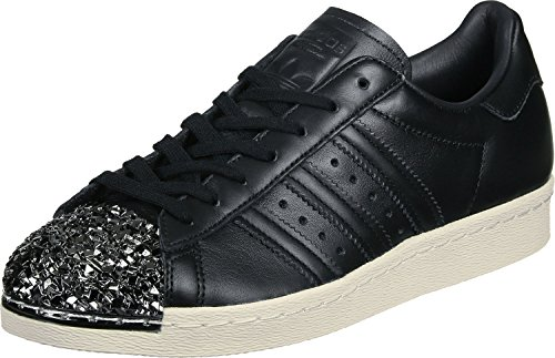 Adidas Originals Superstar 80S - Zapatillas de Metal para Mujer, Negro, 6 M US