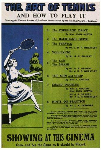 El arte de tenis y cómo jugar Póster de película - 69 cm x 102 cm ...