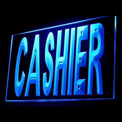 - 120029 Cashier Customers Pay Delivery Cash Checkout Display LED Light Sign