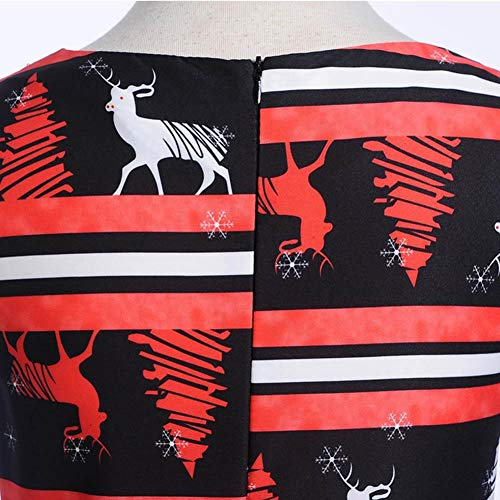 Natale Suit M Swing Size Plus 2xl B Dress donne Vestiti Party Festa A di line Vintage di Alian Cocktail Girl Manica delle Abbigliamento OxwqRY