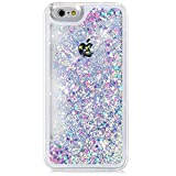 "iPhone 6S Case, ikasus(TM) iPhone 6S Case 4.7"",Liquid Case for iPhone 6S,Case for iPhone 6S,Hard Case for iPhone 6S, Fashion Creative Design Flowing Liquid Floating Luxury Bling Glitter Sparkle Love Heart Hard Case for Apple iPhone 6S (2015)/ iPhone 6 (2014) (Love:Blue+Pink)"