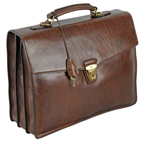 The Bridge Leather Briefcase TODAY BUSINESS Document case brown 06468901/14