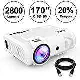 "DR.J 2400Lumens Mini Projector Max. 170"" Display, Full HD LCD Projector Compatible - Best Reviews Guide"