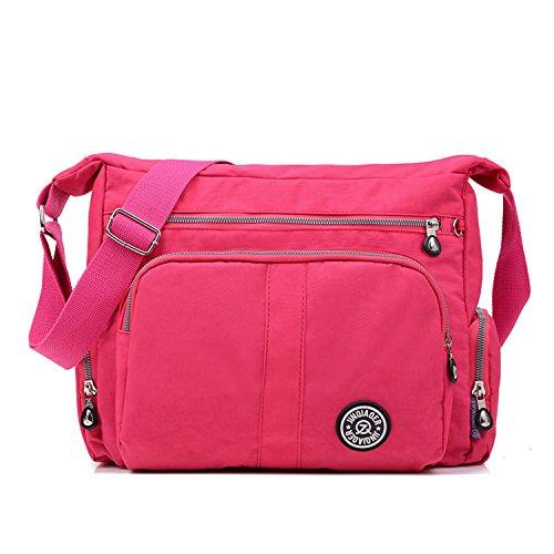 Sac bandoulière Sac Main Bag Sac rouge Besace MeCooler Imperméable Cours Porté Sacoche épaule Sac École de Loisir à Femme 2 Léger pour Sport ap8gU