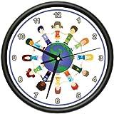 PEACEFUL CHILDREN AROUND THE WORLD Wall Clock classroom