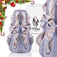 Gift Christmas Decorative Carved Candles - Birthday Gifts for Women - Gifts for Mom - Interior Decoration