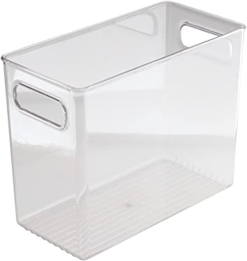 'InterDesign Refrigerator, Freezer and Pantry Storage Container – Food Organizer Bin for Kitchen – Extra Large, Clear' from the web at 'https://images-na.ssl-images-amazon.com/images/I/51X31bcmx5L._AC_SY375_.jpg'