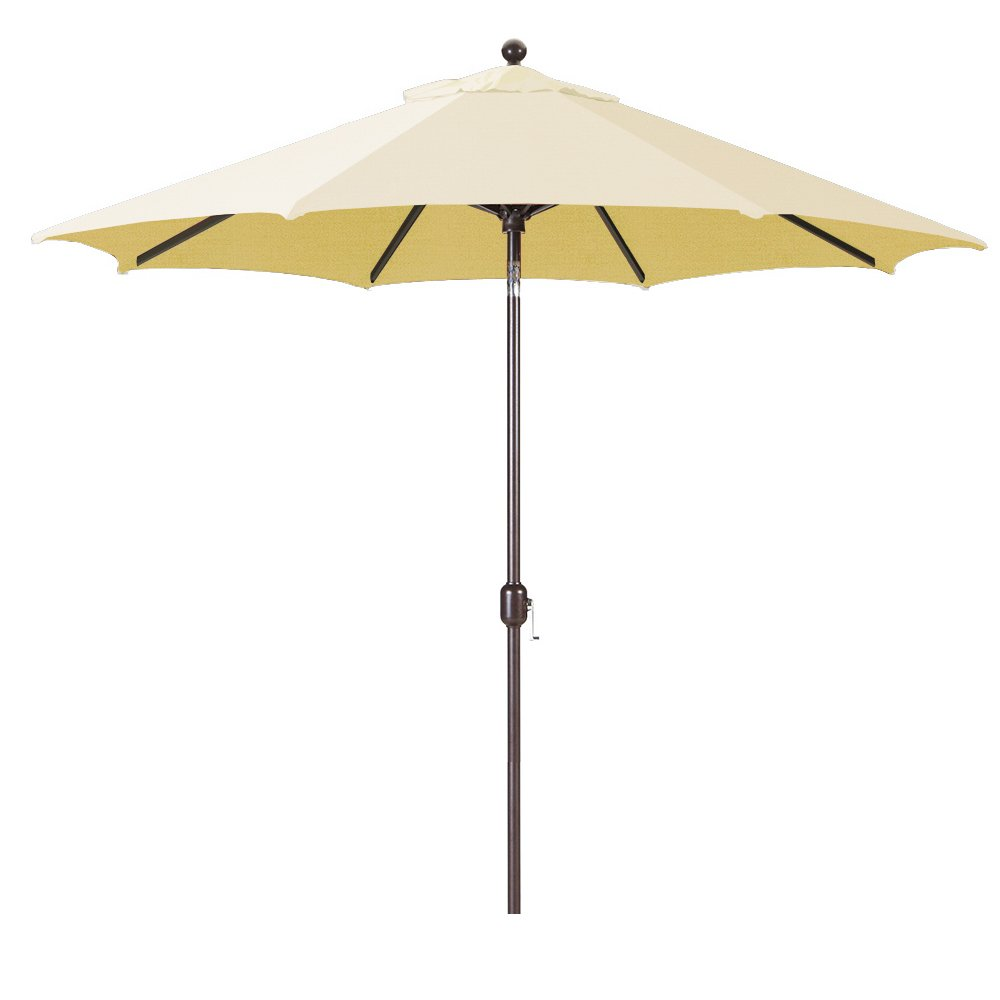 Galtech 9-Foot Model 737 Deluxe Auto-Tilt Umbrella with Antique Bronze Frame and Sunbrella Fabric Canvas Includes Extended Frame Warrantee