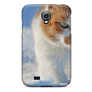New Premium Flip Case Cover Cat Eyes Wallpaper Skin Case For Galaxy S4