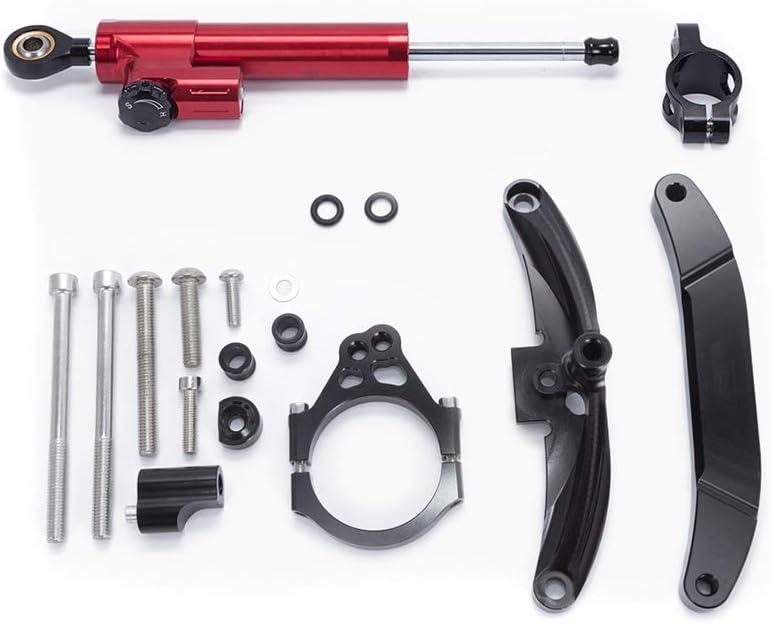 LITAUTO Ammortizzatore di sterzo del Motociclo Controllo di Sicurezza invertito stabilizzatore lineare con Staffa di Installazione per Yamaha FZ1 06-15