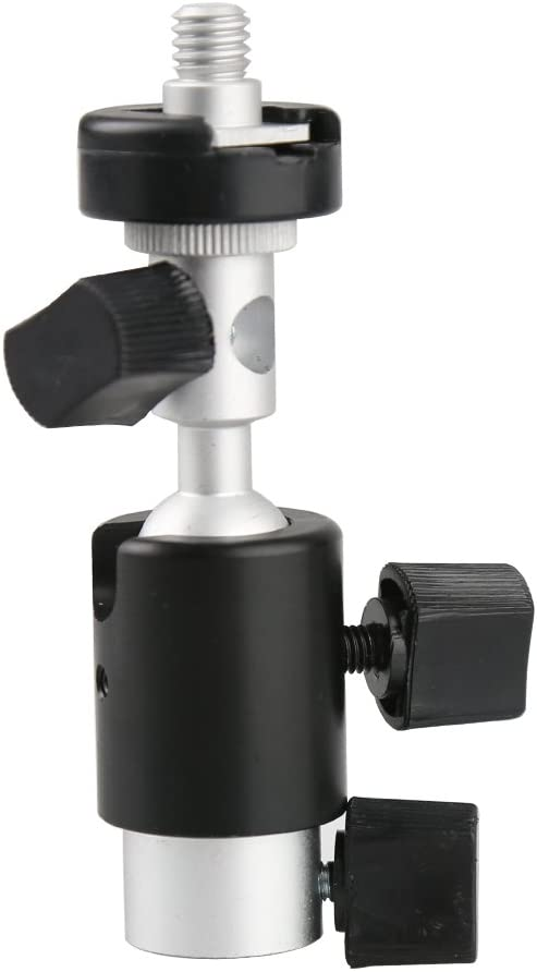 D-type Camera Flash Hot Shoe Umbrella Holder 360/°Swivel with 1//4 3//8 screw