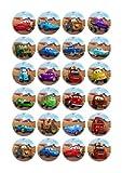 24x Disney Pixar Cars Edible Cake Toppers (Birthday Cupcake Topper by eShack)