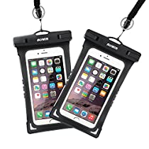Waterproof Cell Phone Bag, AOWIN Universal Waterproof Pouch Dry Case for iPhone X 8 7/7s 6/6S Plus Samsung Galaxy S9/S9+ S8/S8+ S7 S6 S5 S4 Edge LG Huawei P9/P10/P20 up to 6.2