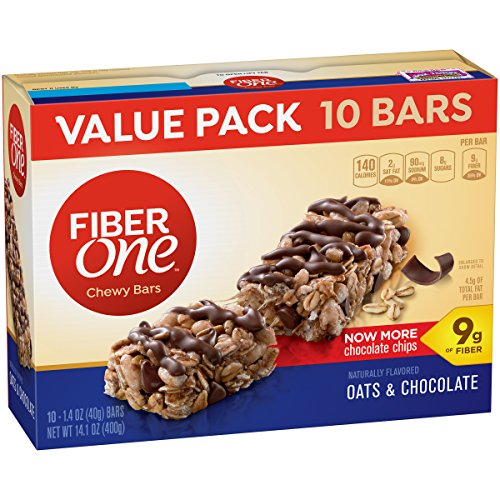 Fiber One Fiber 1 Oats and Chocolate Bar Value Pack, 1.4 OZ 10 Count (One Fiber Oats)