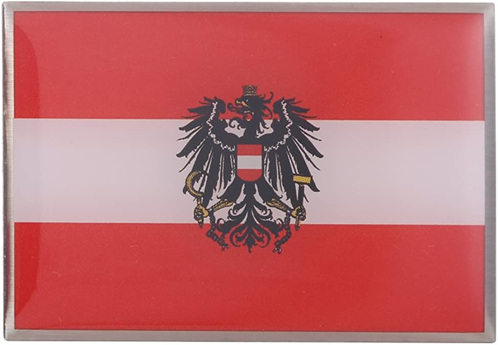 GuDeKe Pin de Bandera de Austria con el Broche de Águila Escudo: Amazon.es: Joyería