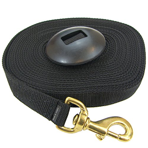 Intrepid International Lunge Line with Rubber Stopper, Black, ()