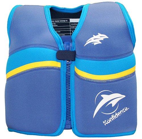 Kinder-Schwimmweste aus Neopren, Blau/Gelb Nautical/Yellow, Konfidence Jacket Größe: 12-16 kg (2-3 Jahre), Brustumfang 56 cm