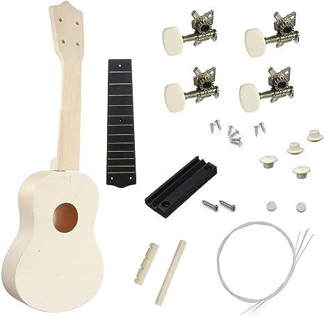 21 Ukulele DIY Set 4 cuerdas guitarra acústica Instrumento musical ...