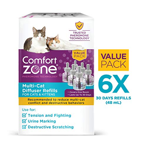 Comfort Zone Comfort Zone Diffuser Kit for Cat Calming | MultiCat Calming Formula | Refill Only, 6 Pack from Comfort Zone