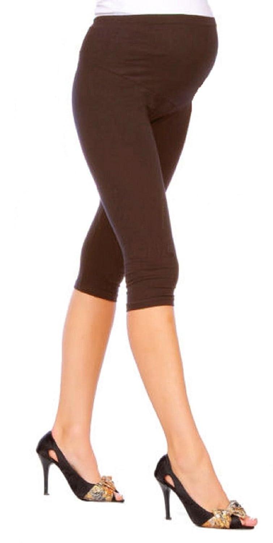 RSVH Women Ladies Cropped Maternity Warm Leggings 3/4 Length Pregnancy Nursing HQ