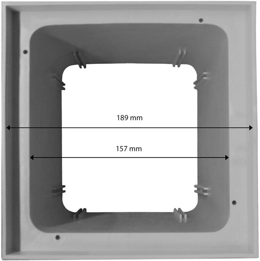 Marley Einlaufschacht ohne Boden 200x200mm mit Schachtdeckel Hofablauf Revisionsschacht