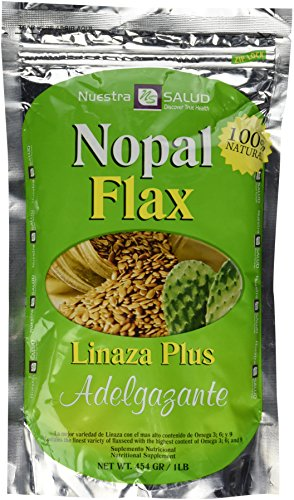 Nopal Flax Linaza Plus Adelgazante454 GR/1LB by Nuestra Salud