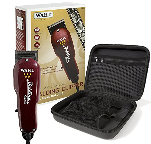 Wahl Professional 5-Star Balding Clipper #8110 with Travel Storage Case #90732 – Great for Barbers and Stylists (Wahls Balding Clipper)