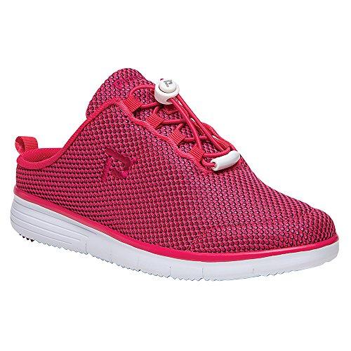Propet Frauen TravelFit Slide Walking Schuh Rot schwarz