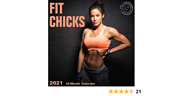 2021 Fit Chicks Wall Calendar by Bright Day, 12 x 12 Inch, Hot Sexy