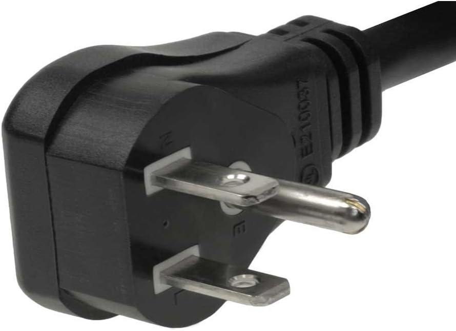 C2G//Cables to Go 29804 18 AWG Flat Plug Power Strip Plus for NEMA 5-15P to NEMA 5-15R 1.5 Feet Black