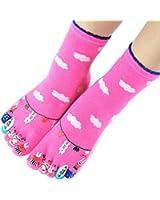 Voberry Women Pure Colors Ventilation Socks Cotton Fiber Meias Sports