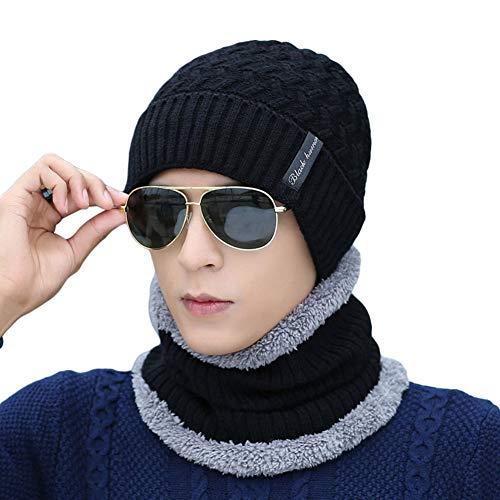 Punto Invierno de de para pañuelo Hombre M Ukallaite de Conjunto negro Gris Gorro diseño Gris de SPapHnI1