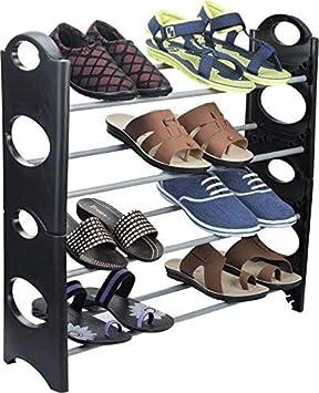 Craftsfy Foldable Shoe Rack 4 Shelves Shoe Racks