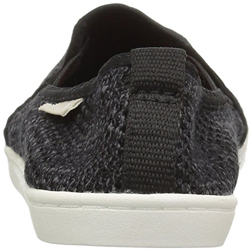 Sanuk Women's Brook Knit Loafer Flat, Black Black