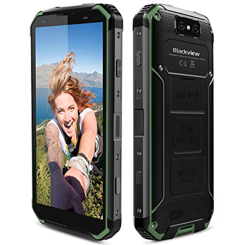 Blackview Rugged Smartphone, BV9500 Cell Phone Unlocked 10000mAh Battery 5.7''FHD+ IPS Display Dual Rear Camera IP68 Dust/Water Proof Android 8.1 4+64GB Phone with NFC/Fingerprint/GPS/Wireless Charge (Rugged Phone Mobile)